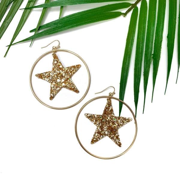Star Spangled Hoop *Final Sale* - Gold