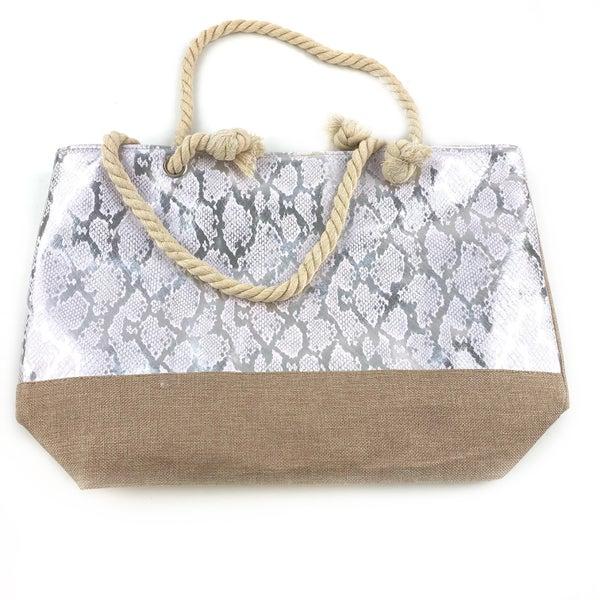 Shimmer Snakeskin Tote Bag *Final Sale*