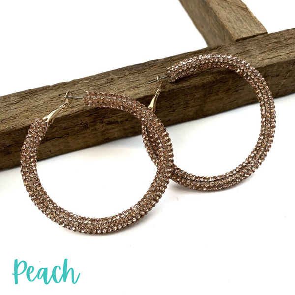 Blinded by the Light Hoops *Final Sale* - Peach