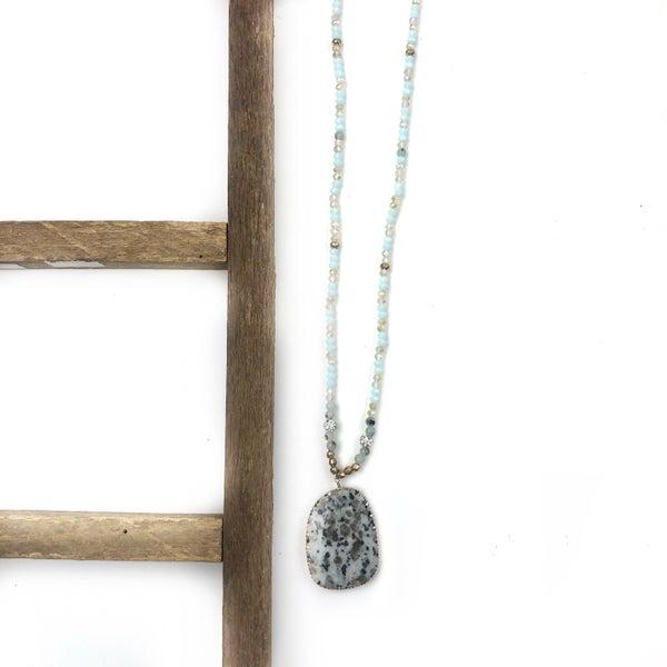 Write A Story Stone Necklace *Final Sale*