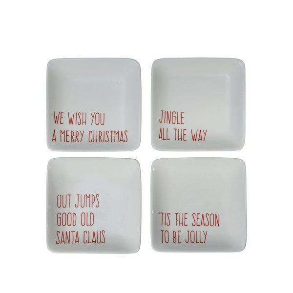 Small Christmas Stoneware Plate *Final Sale*