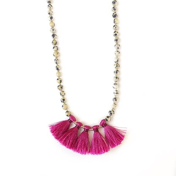 Spotted Tassel Necklace