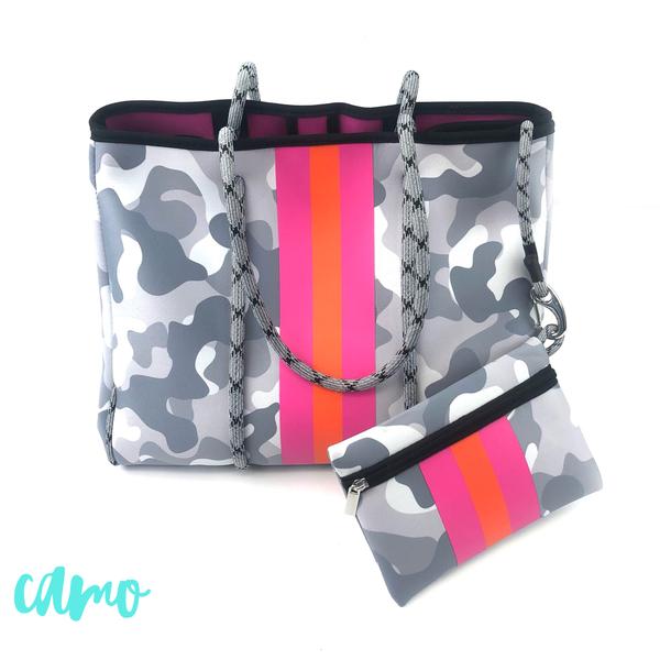 Summer Feelings Neoprene Tote Bag *Final Sale* - Camo