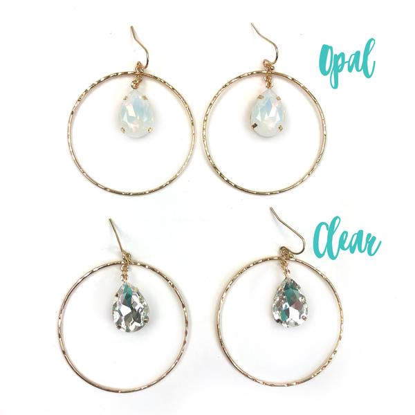 Teardrop Crystal Earrings *Final Sale*