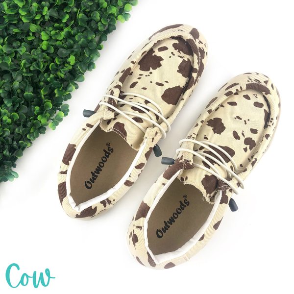 Go The Distance Slip Ons *Final Sale* - Cow