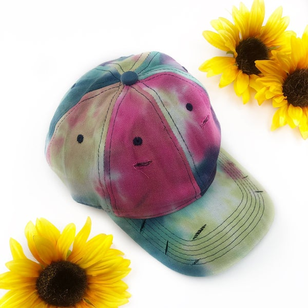 Tie-Dye Distressed Hat