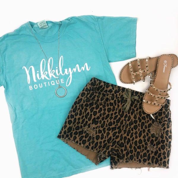 Mint Nikkilynn Logo T-Shirt *Final Sale*
