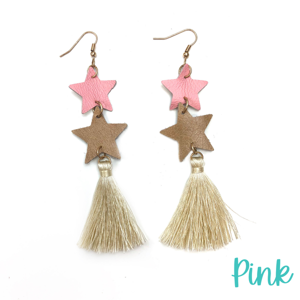 To The Stars Tassel Earrings *Final Sale* - Pink