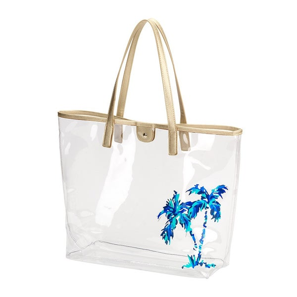 To The Beach Clear Tote Bag *Final Sale*