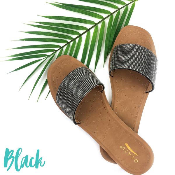Shimmer in the Sun Sandals *Final Sale* - Black