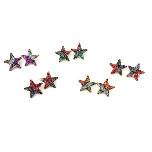 Colorful Star Studs *Final Sale*