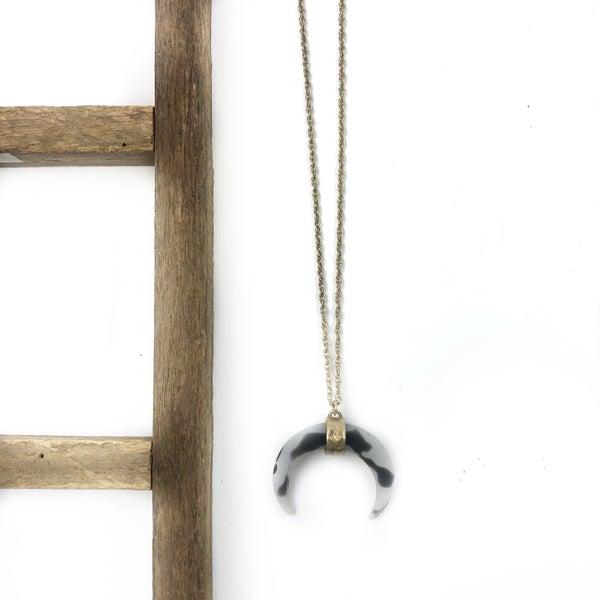 Matte Horn Necklace *Final Sale*