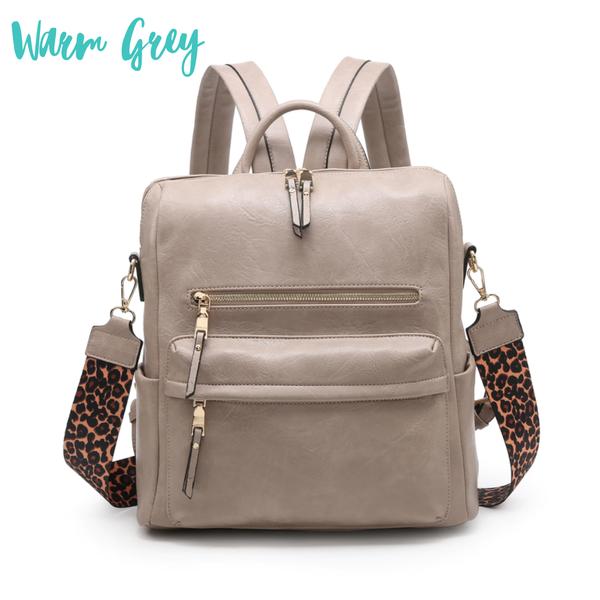 Amelia Convertible Backpack *Final Sale* - Warm Grey