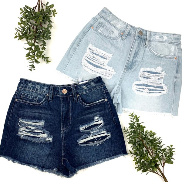 Cool Moves High Rise Denim Shorts - FINAL SALE