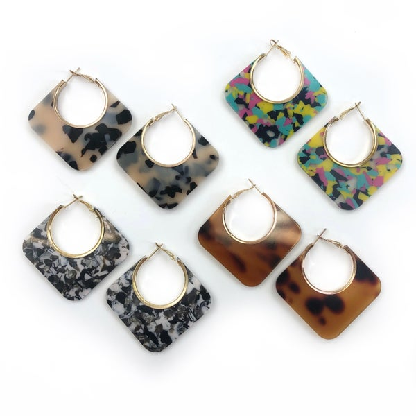 Black Thursday 2020 - Abstract Hoop Earrings *Final Sale*