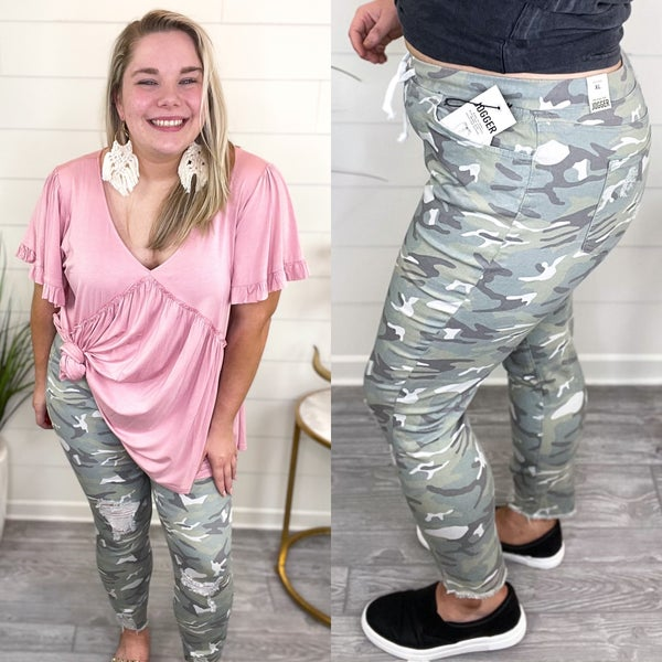 When Spring Arrives Joggers - Light Camo