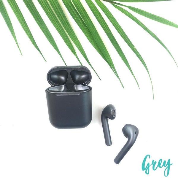 Satin Finish Wireless Airpods *Final Sale* - Grey