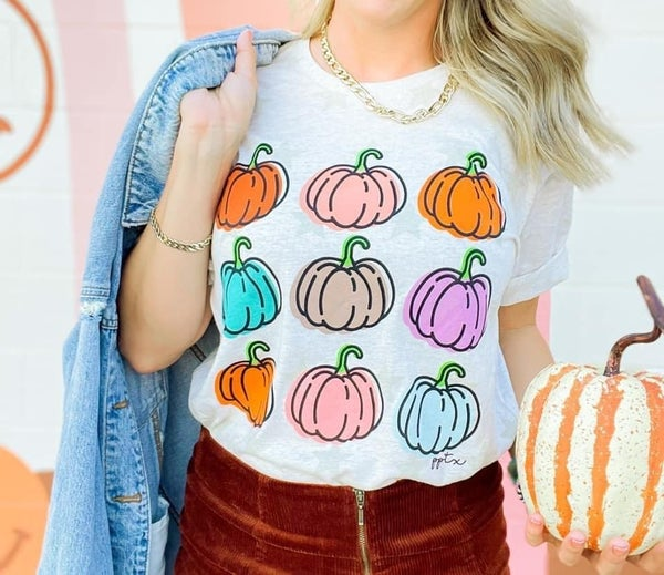 Colorful Pumpkin T-Shirt *Final Sale*