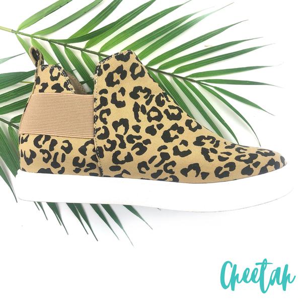 Let's get steppin Sneakers - Cheetah