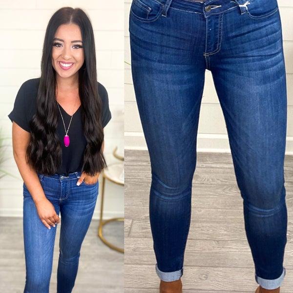 Melanie Mid Rise Skinny Jeans