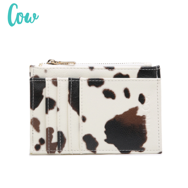 The Sia Card Holder Wallet *Final Sale* - Cow