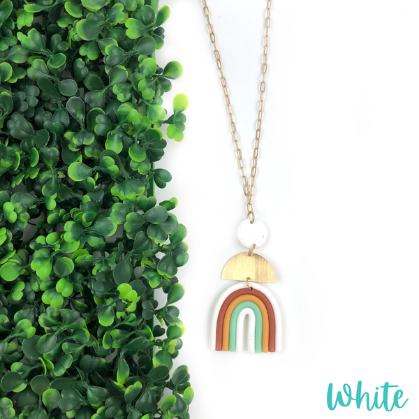 Clay Rainbow Necklace *Final Sale* - White