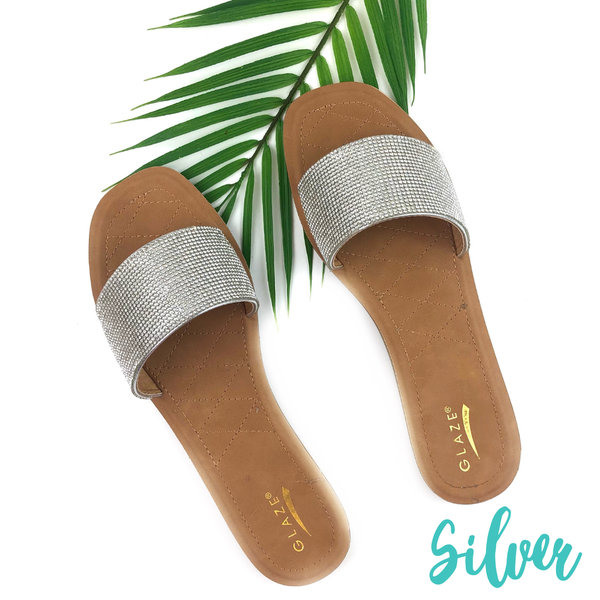 Shimmer in the Sun Sandals *Final Sale* - Silver