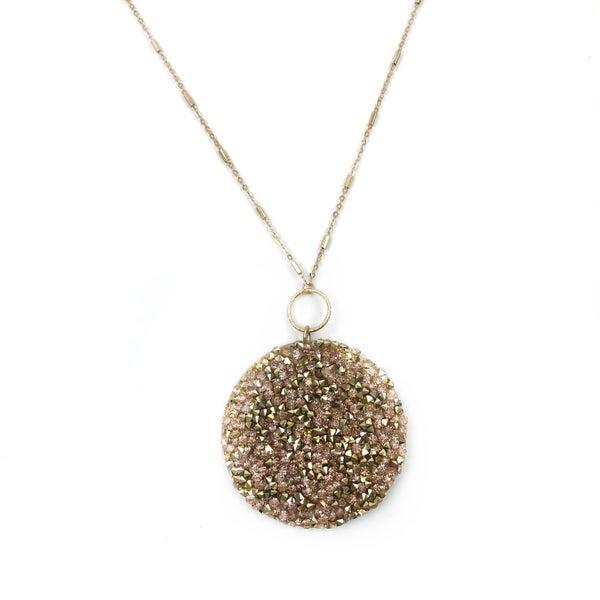 Crystal Disk Necklace *Final Sale*
