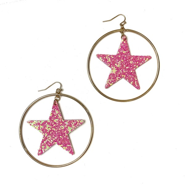 Star Spangled Hoop *Final Sale* - Pink