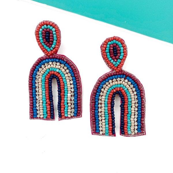 Beaded Arch Earrings *Final Sale* - Multi