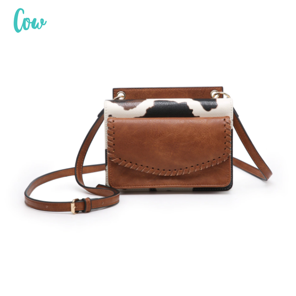 Evelyn Crossbody/Wallet with Whipstitch *Final Sale* - Cow