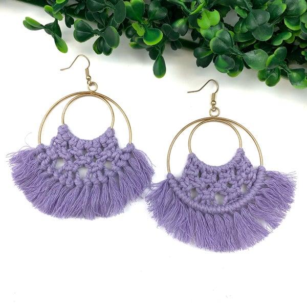 Boho Love Earrings *Final Sale* - Lavender