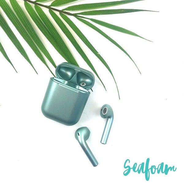 Satin Finish Wireless Airpods *Final Sale* - Seafoam