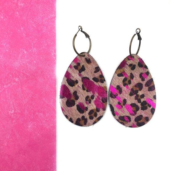 Pink Leather Earrings *Final Sale*