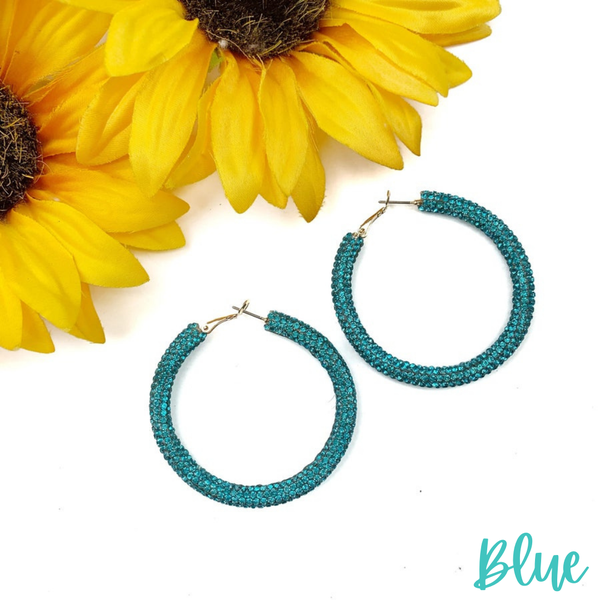 Blinded by the Light Hoops *Final Sale* - Blue