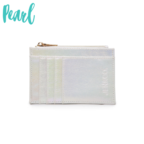 The Sia Card Holder Wallet *Final Sale* - Pearl