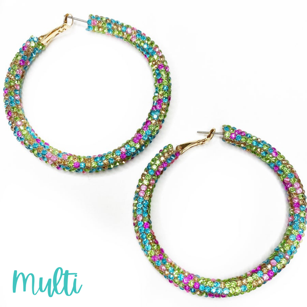 Blinded by the Light Hoops *Final Sale* - Multi