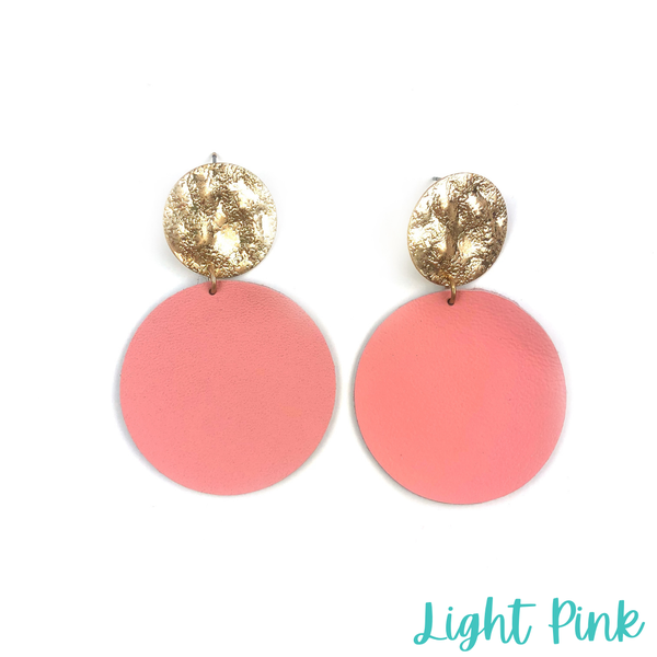 The Novah Disk Earrings *Final Sale* - Light Pink