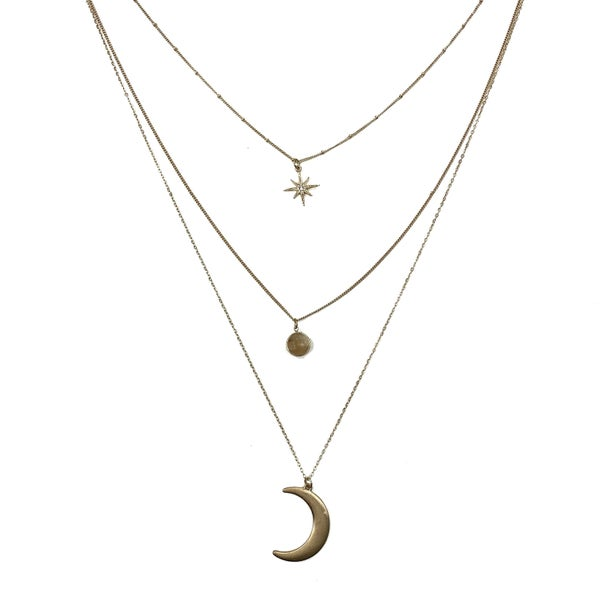 The Moon and Stars Layered Necklace