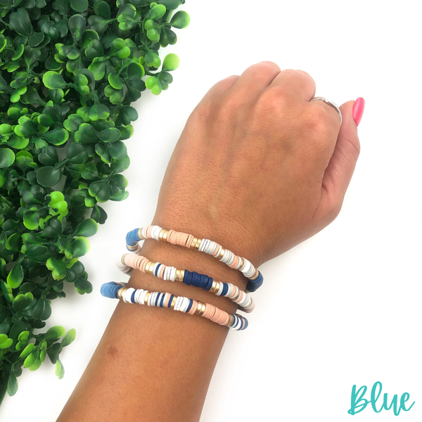 Just Alike Clay Bead Bracelet Set *Final Sale* - Blue