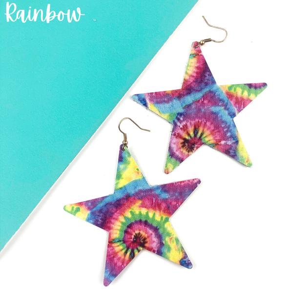 Tie-Dye Star Earrings *Final Sale* - Rainbow