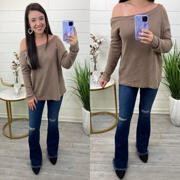 This Time Around Waffle Knit Top