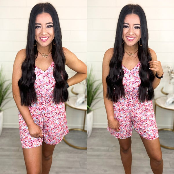 All In My Head Floral Romper