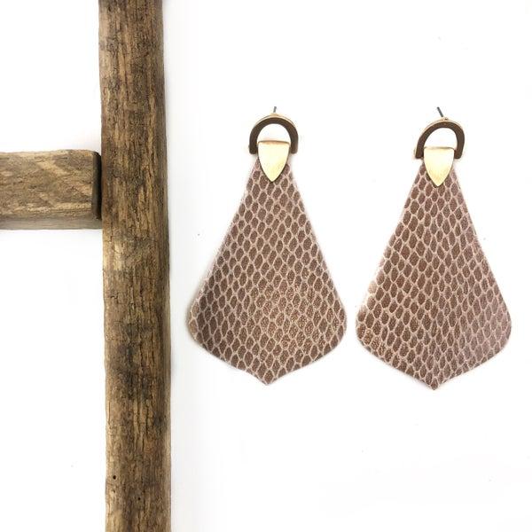 Pleather Snake Earrings *Final Sale*