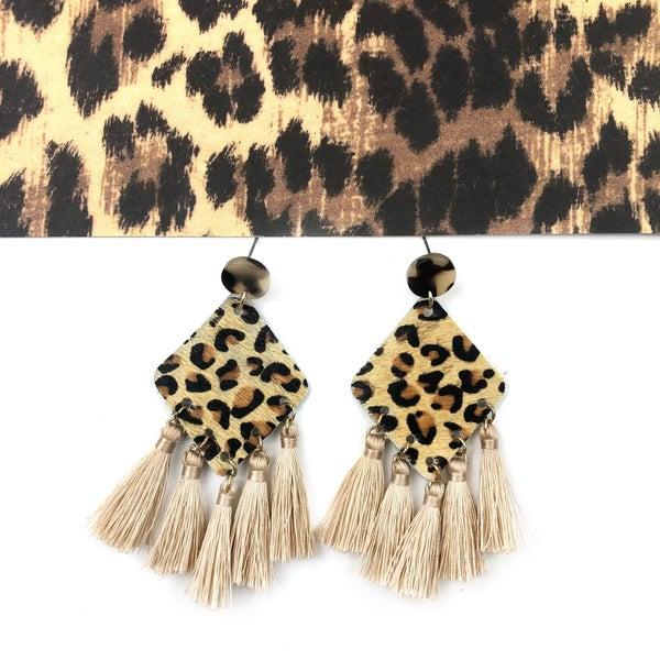 Hair On Hide Tassel Earrings *Final Sale*