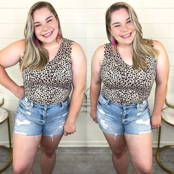 The Difference In Us Animal Print Body Suit