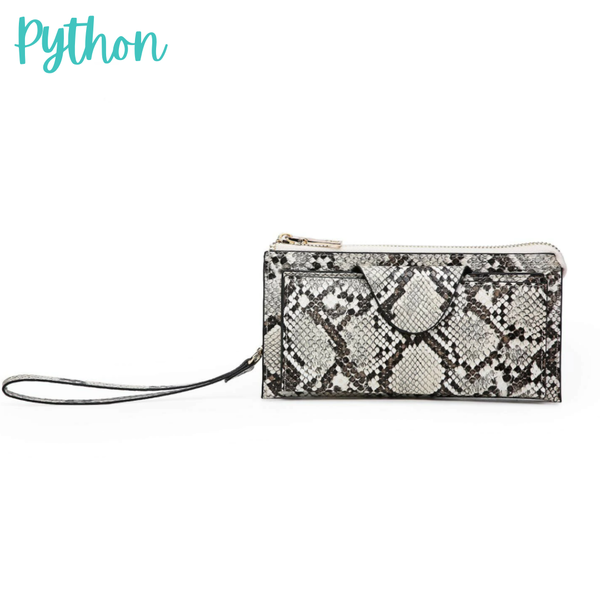 Kyla RFID Wallet with Snap Closure *Final Sale* - Python