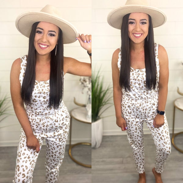 Lost In The Moment Leopard Jumpsuit