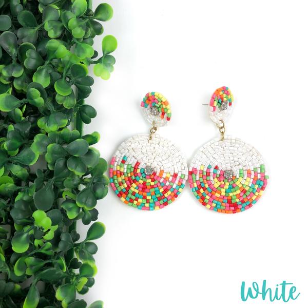 The Zoey Seed Bead Earrings *Final Sale* - White