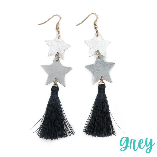 To The Stars Tassel Earrings *Final Sale* - Grey